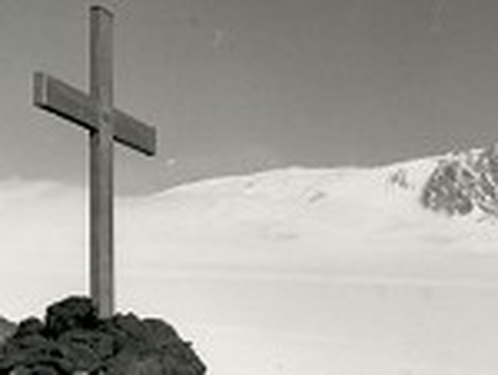 Cross With a Mountain in the Distance