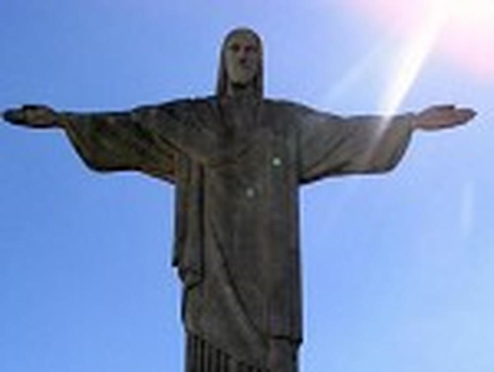 Close Up of Christ the Redeemer in Rio de Janeiro