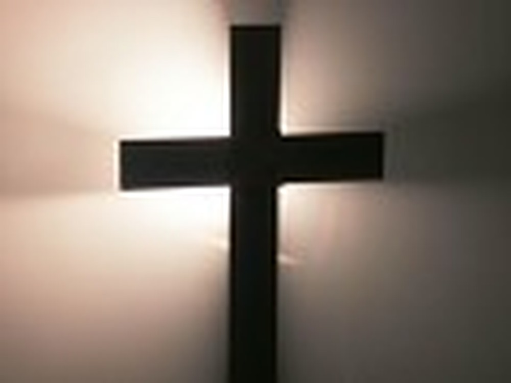 Dark Cross with Reflective Light