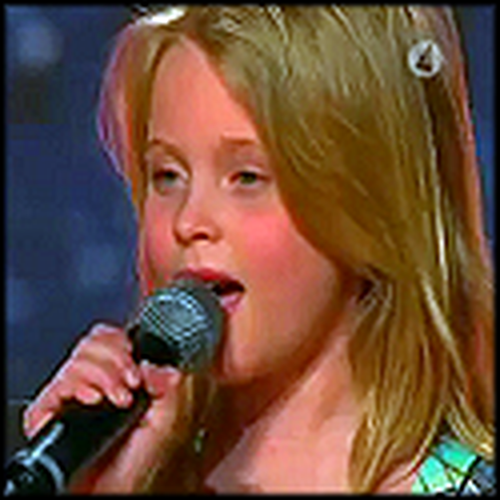 10 Year Old Zara Larsson Sings a Beautiful Moving Song