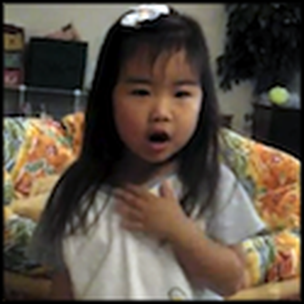 Adorable 3 Year Old Girl Sings Old Rugged Cross
