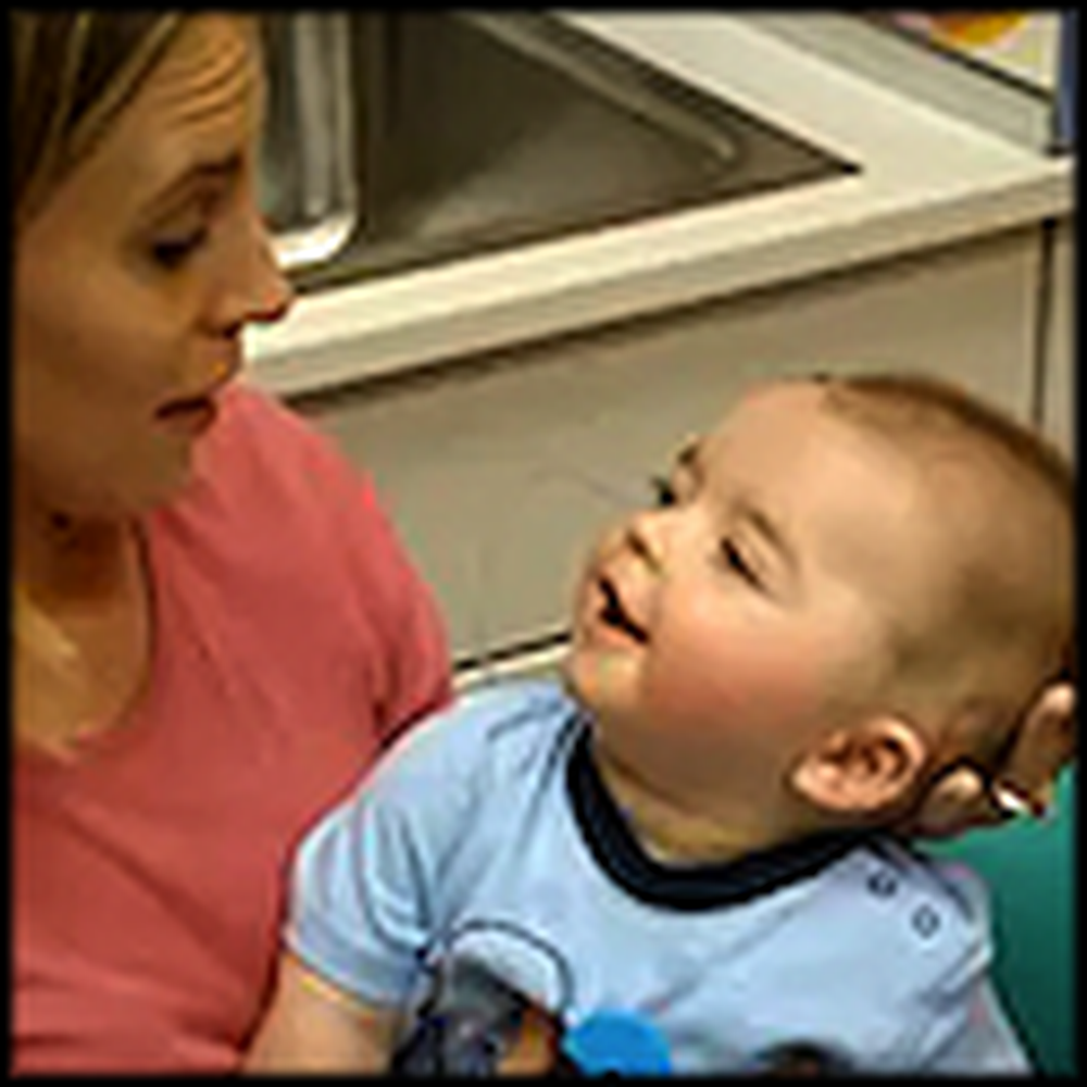 8 Month Old Deaf Baby Hears his Mother for the First Time