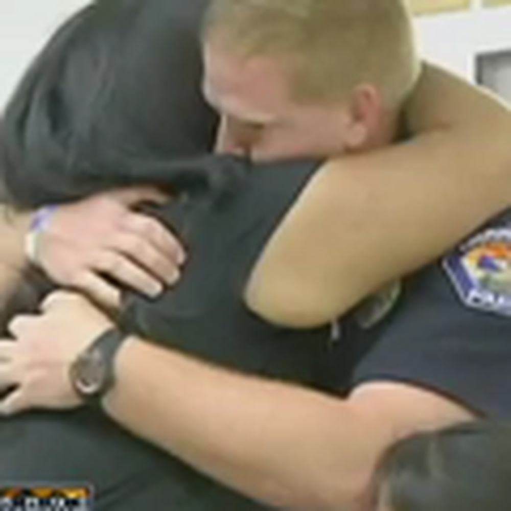 Emotional Reunion Between a Mother and the Officer Who Saved her Daughter