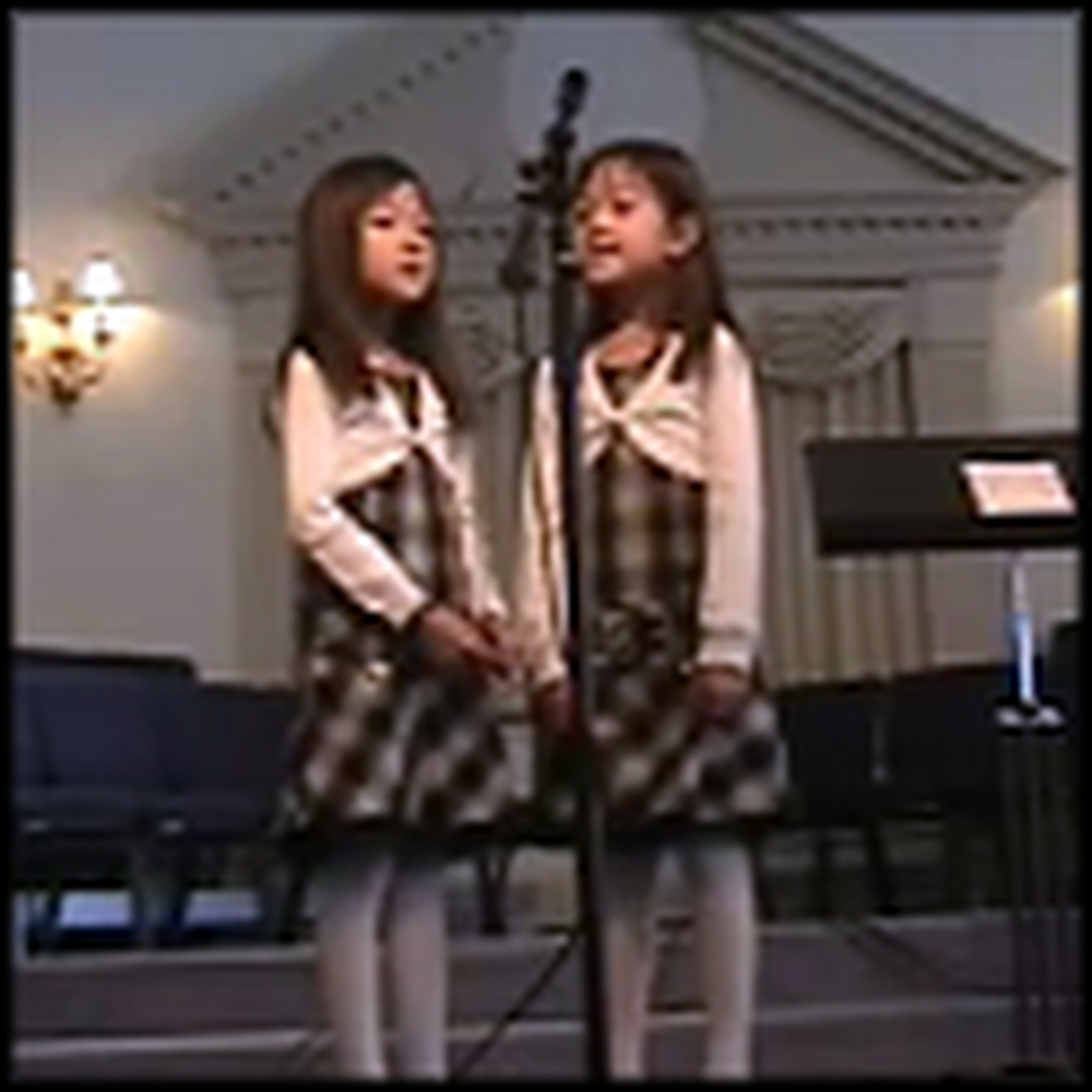7 Year Old Twins Sing Amazing Grace with Awesome Harmony