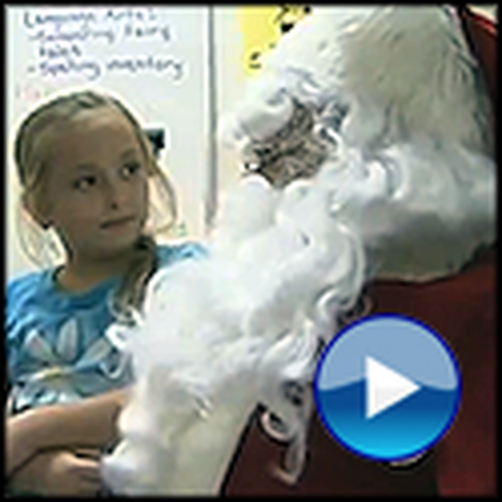 Girl Asks Santa for her Dad to Come Home - Doesn't Realize Santa Is Her Dad
