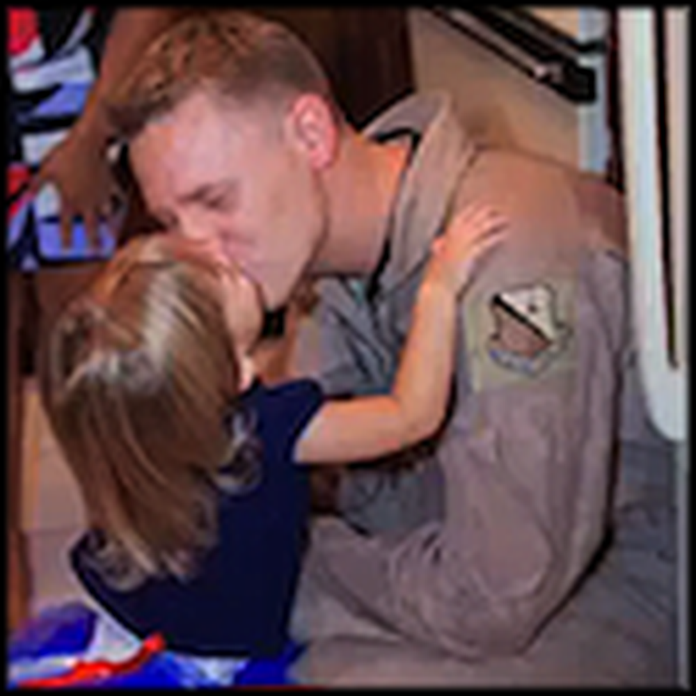Soldier Surprises his Wife and Daughter During Bible Study