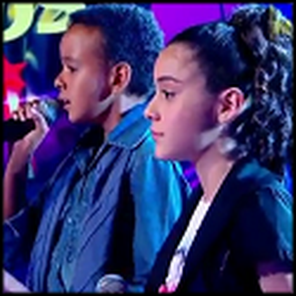 Two Young Singers Perform Hallelujah - So Beautiful