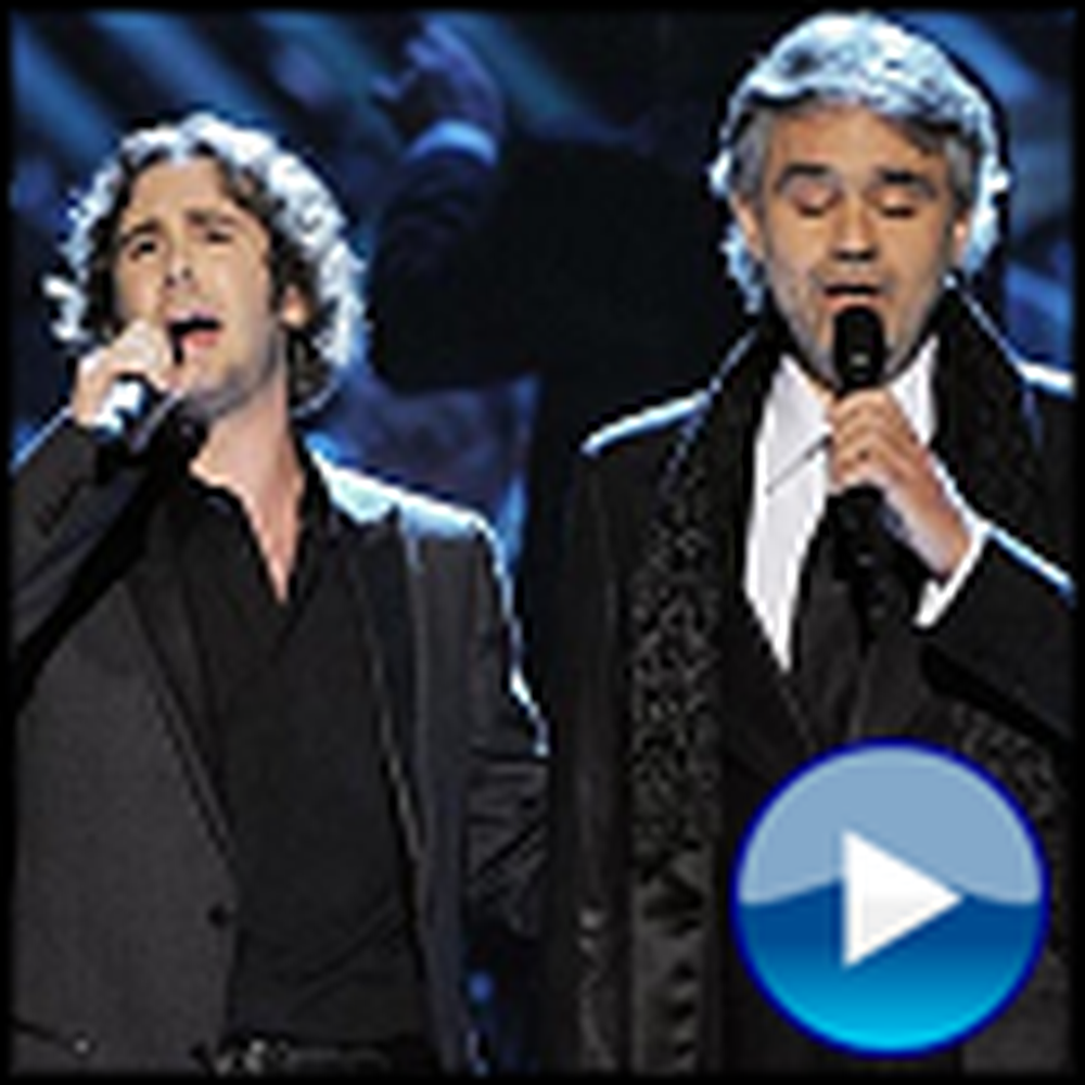 Andrea Bocelli and Josh Groban Sing The Prayer