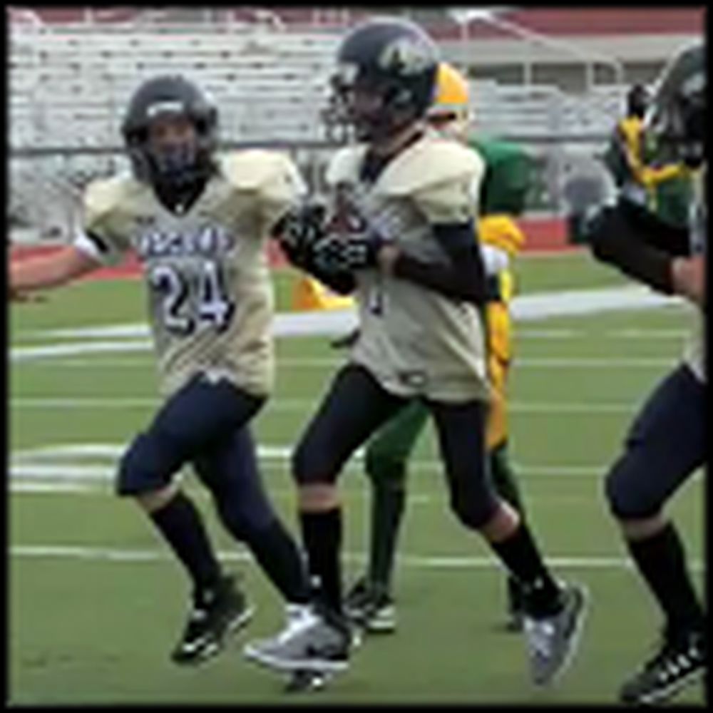 Boy with Autism Scores a Touchdown in a Football Game