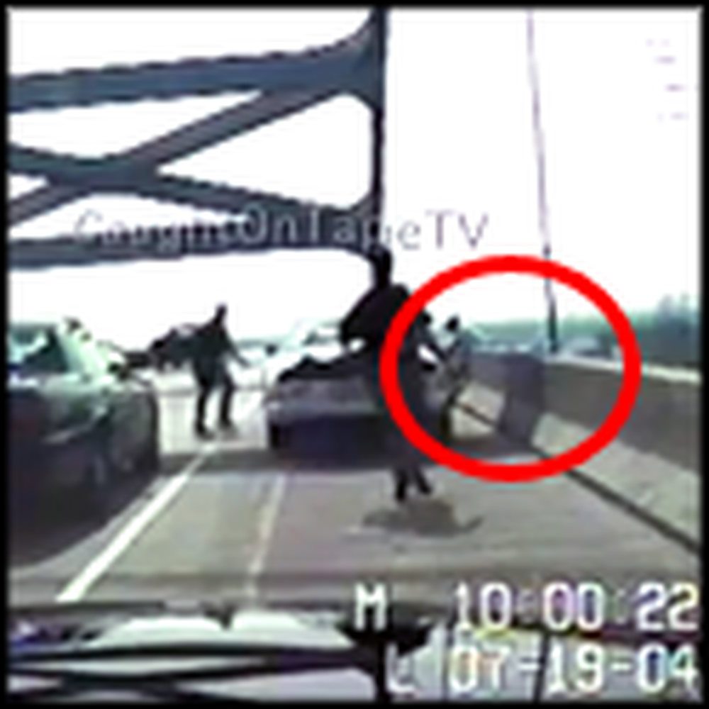Trooper Saves a Distraught Woman Attempting to Jump Off a Bridge