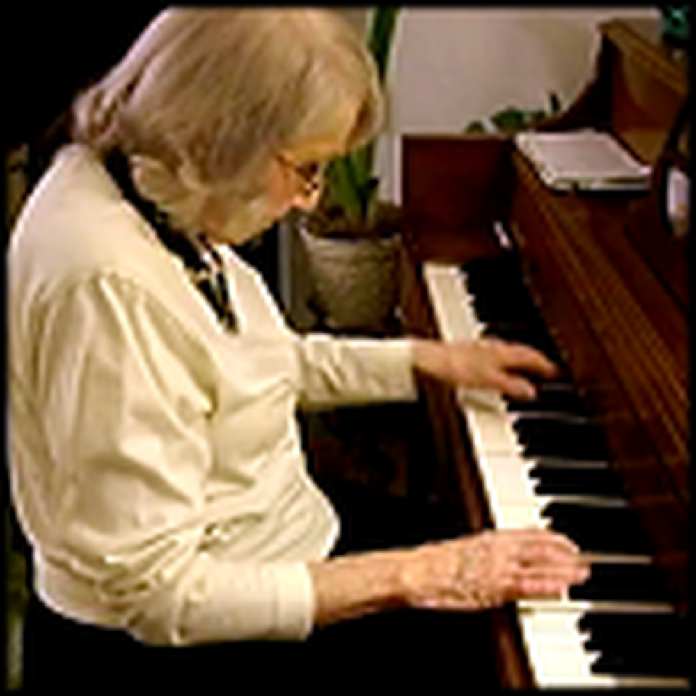 91 Year Old Woman Rocks Out on the Piano