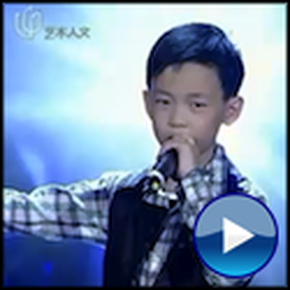 10 Year Old Boy Sings You Raise Me Up - Unbelievable