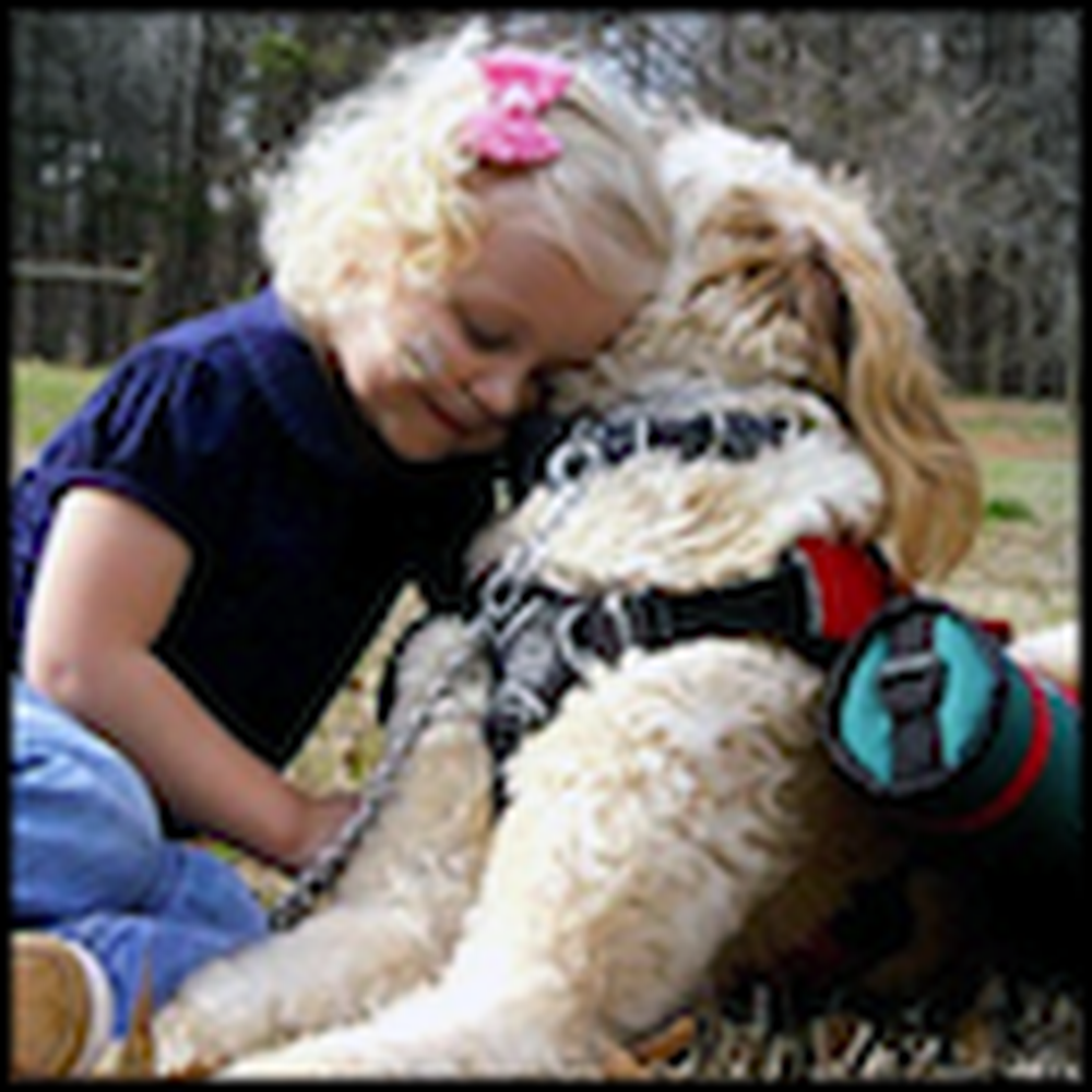 Dog Keeps a Little Girl Alive by Carrying Her Oxygen