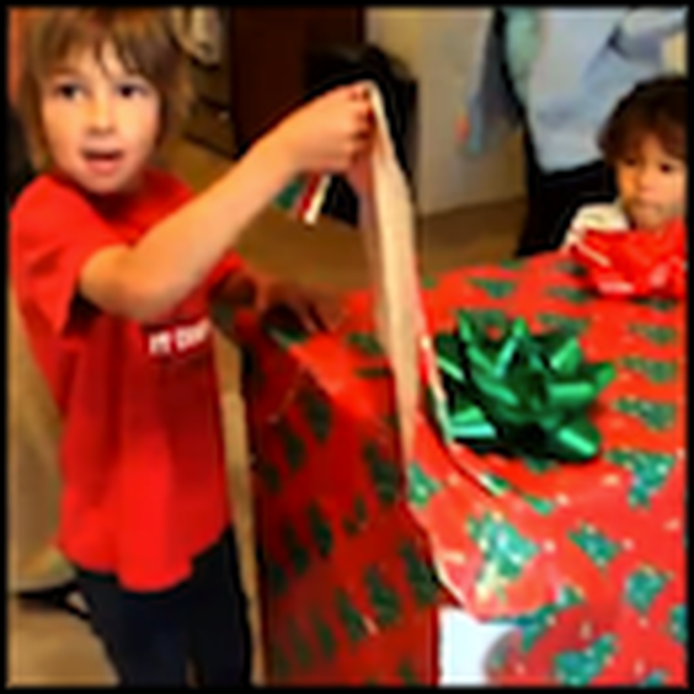 Three Kids Open a Present and Get the Best Surprise Ever