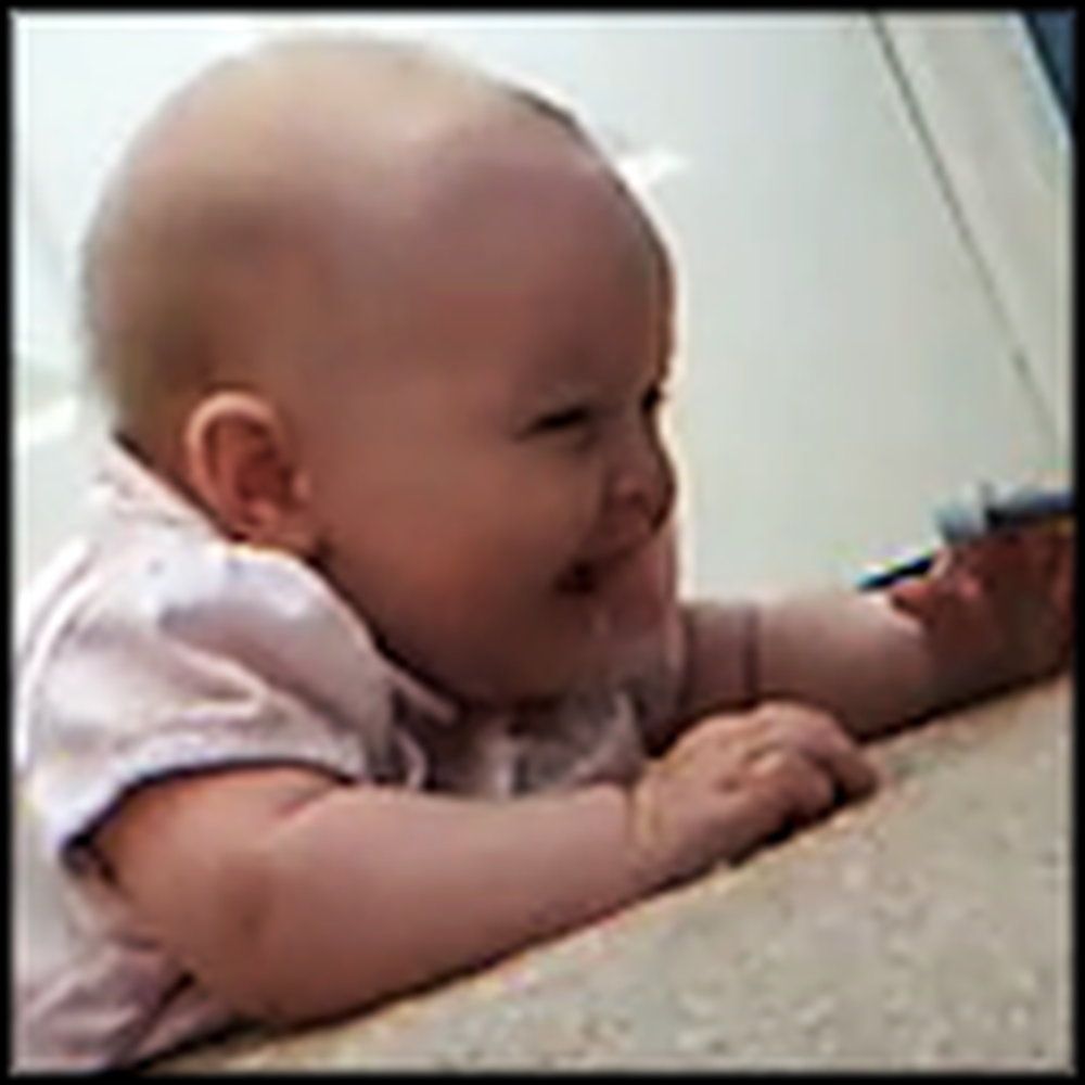 Happiest Baby Ever Discovers a New Toy