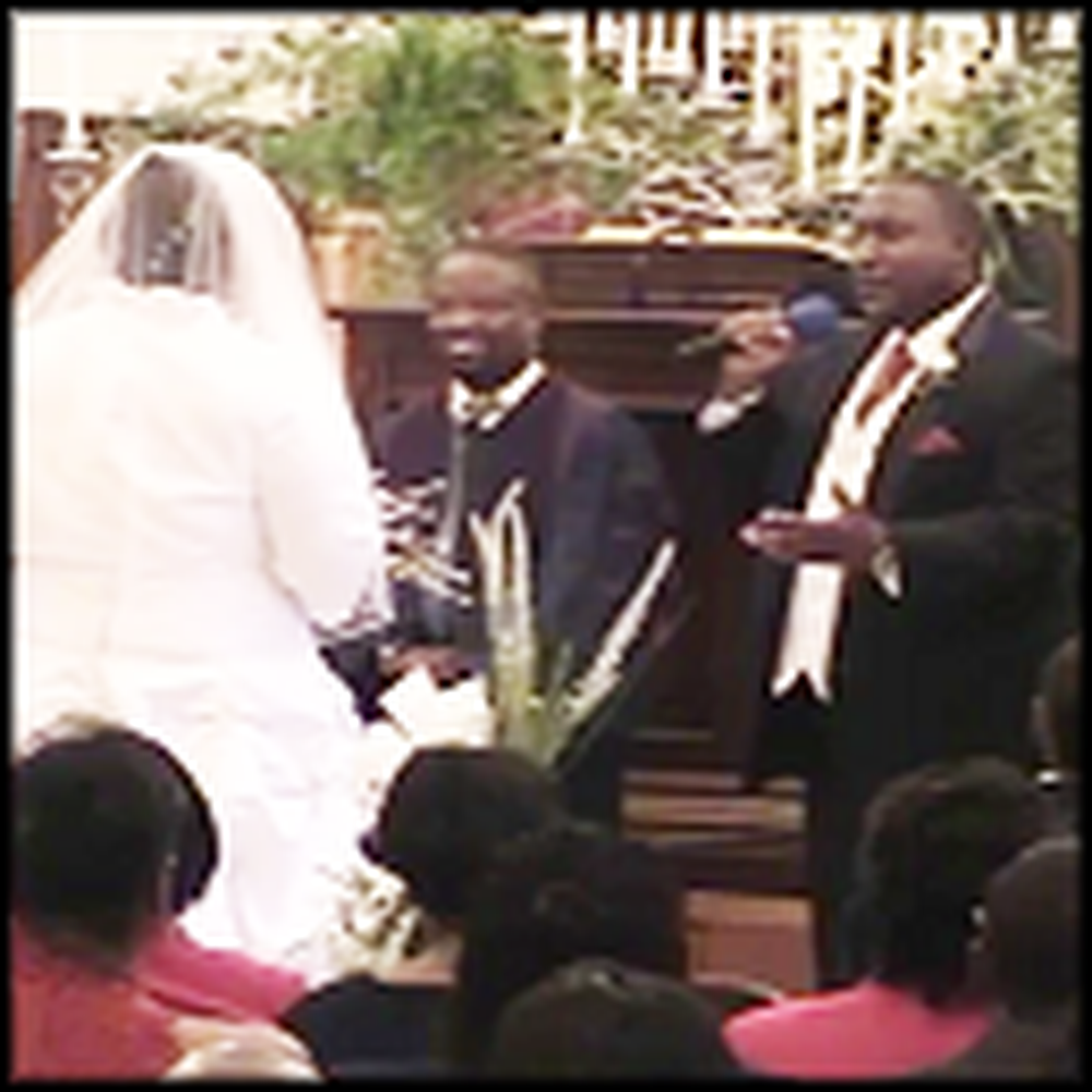 Groom with an Awesome Voice Sings to his Bride - Wow