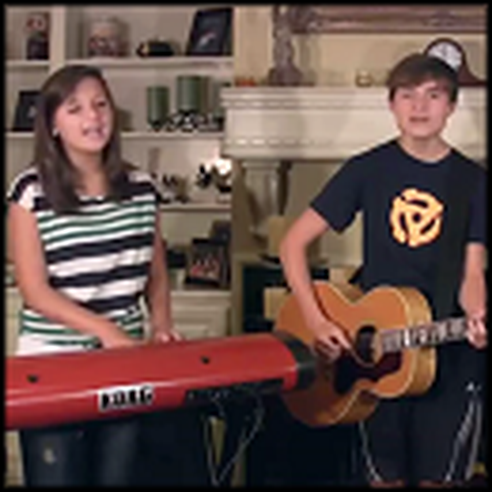 Three Siblings Sing Bridge Over Troubled Water - Great Harmonies