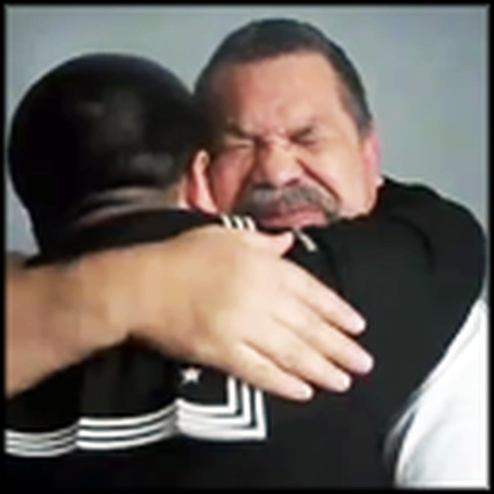 Grandpa Breaks Down When Sailor Grandson Surprises Him
