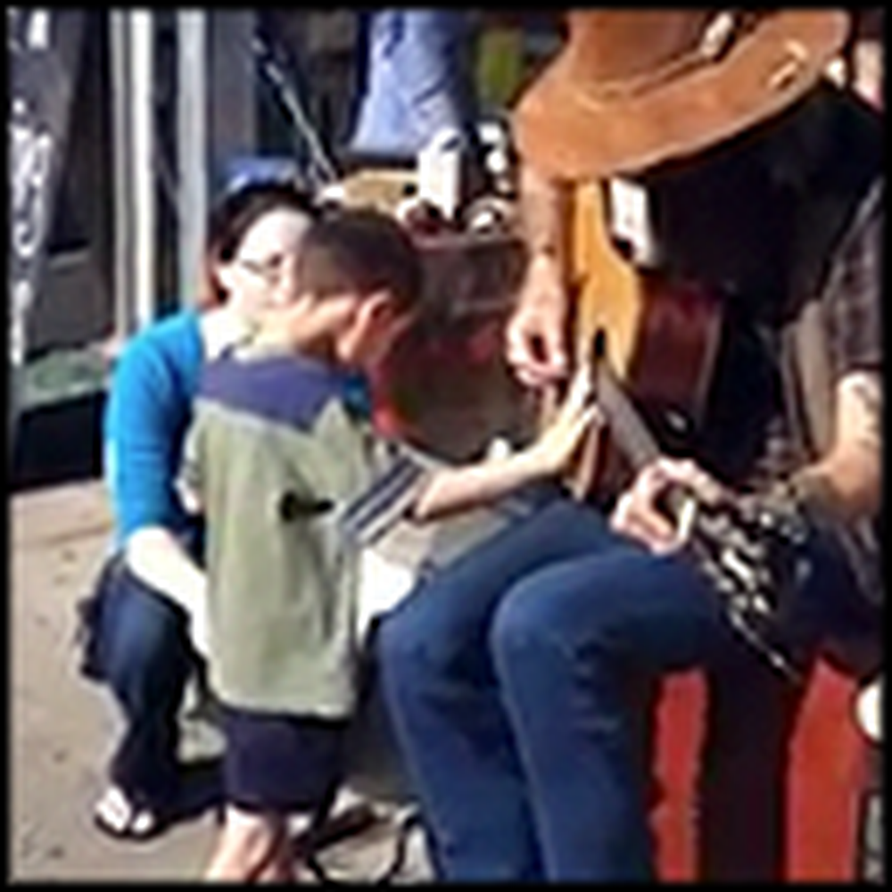 Blind Boy with Autism Runs into a Street Performer - And Something Special Happens