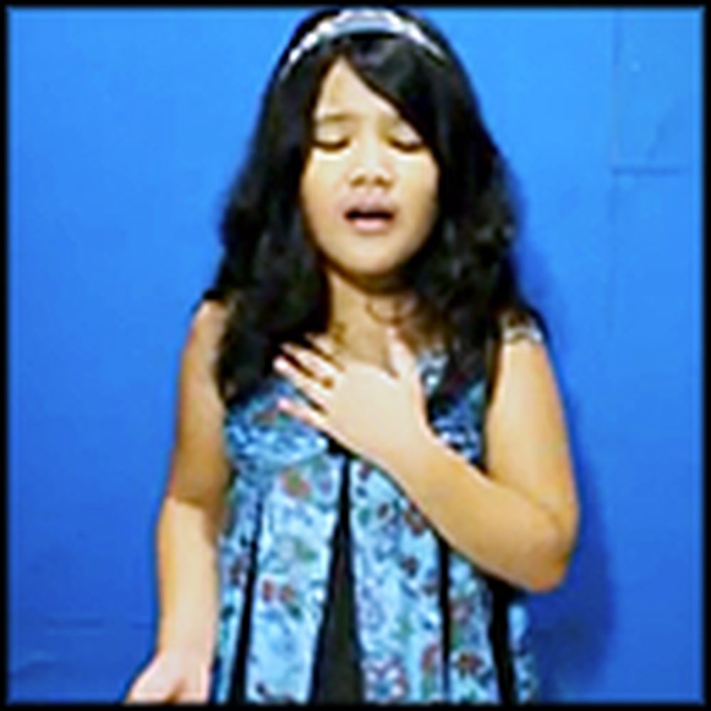 8 Year Old Fitri Cerado Will Stun You With her Angelic Voice