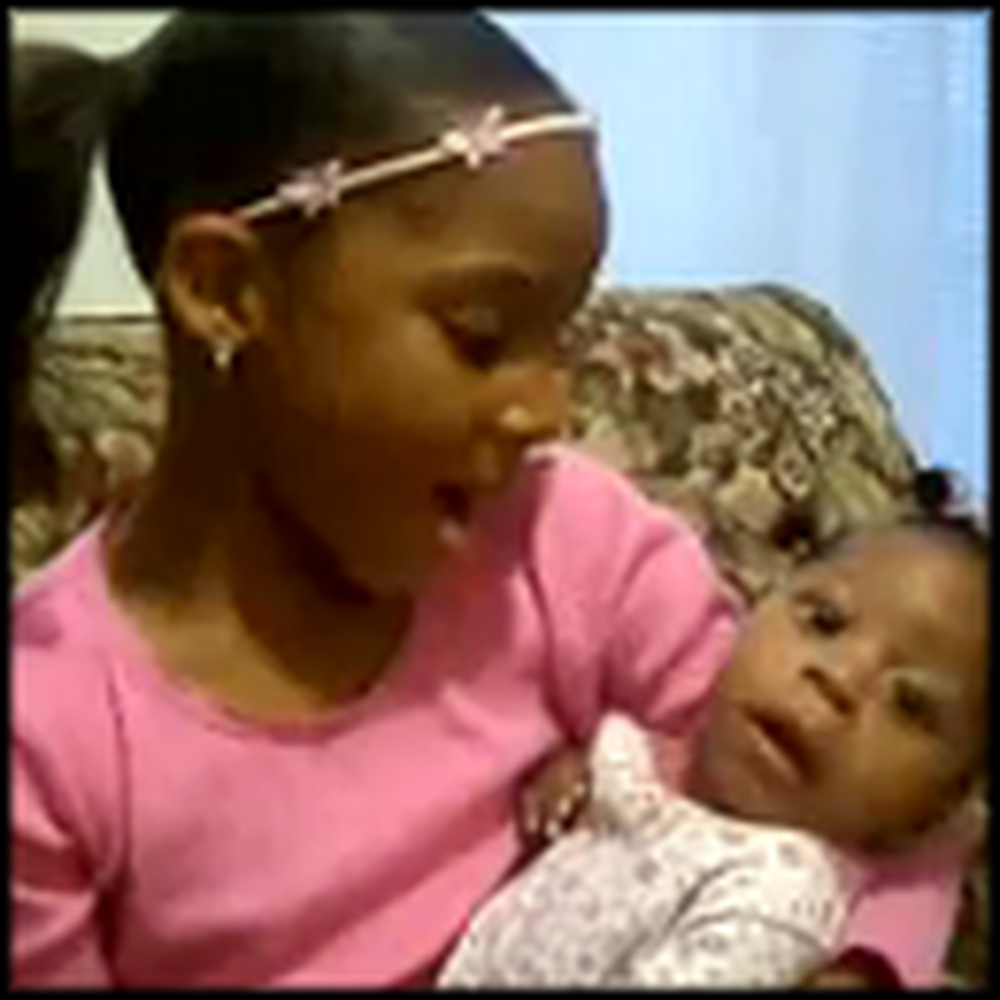 Little Girl Sings to her Miracle Baby Sister - So Touching