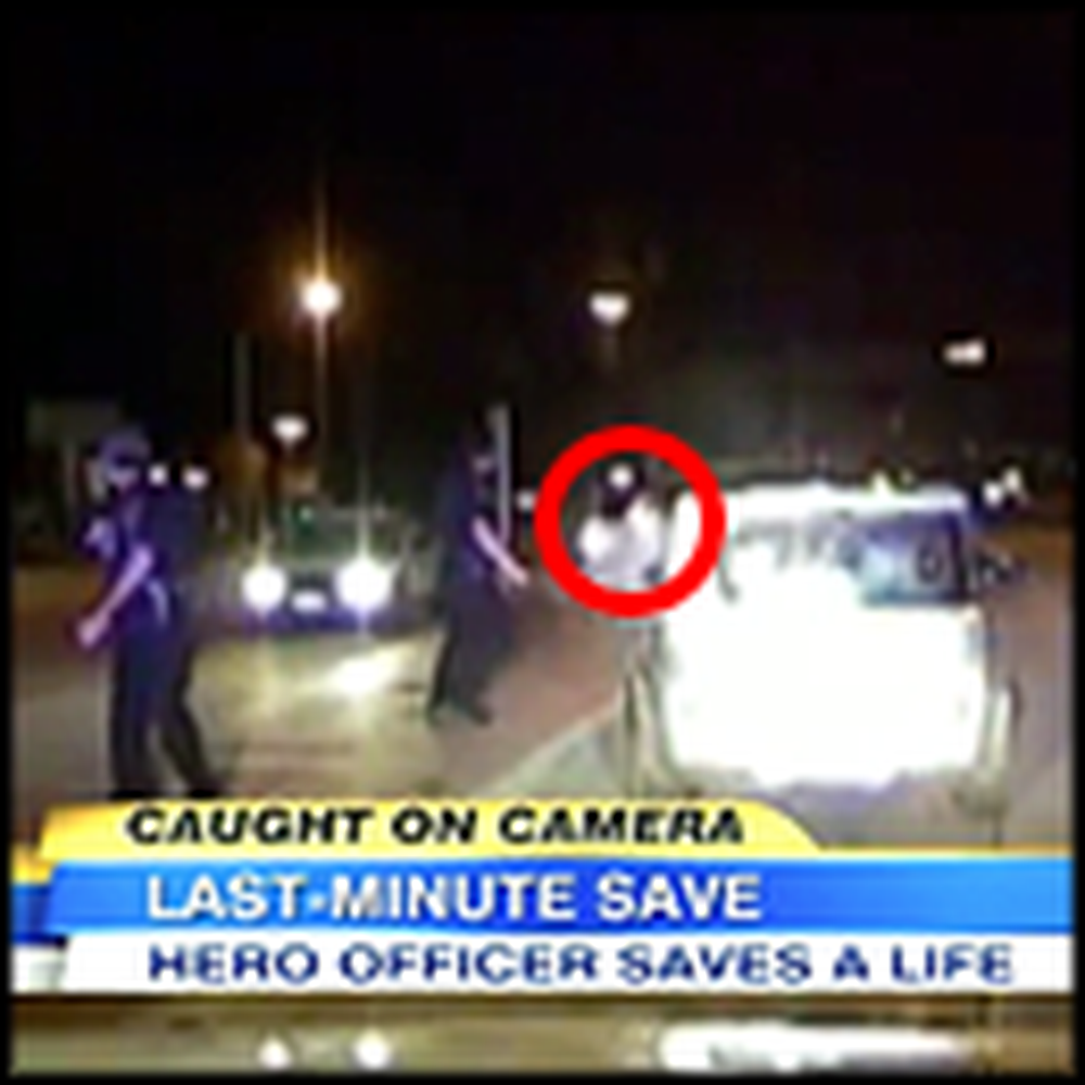 Police Officer's Quick Thinking Saves Girl From Deadly Crash