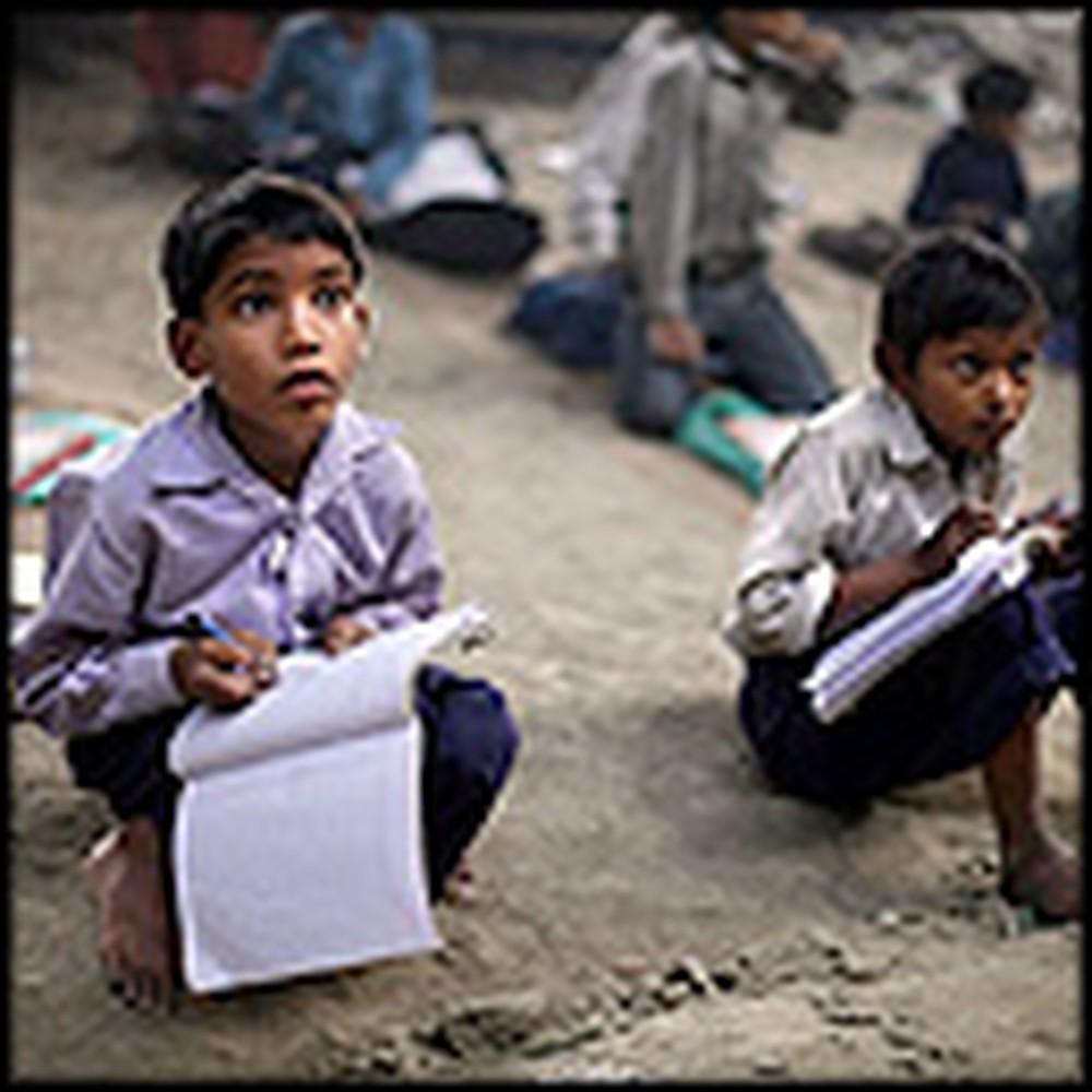 Needy Children Get Free Schooling Under a Bridge in India