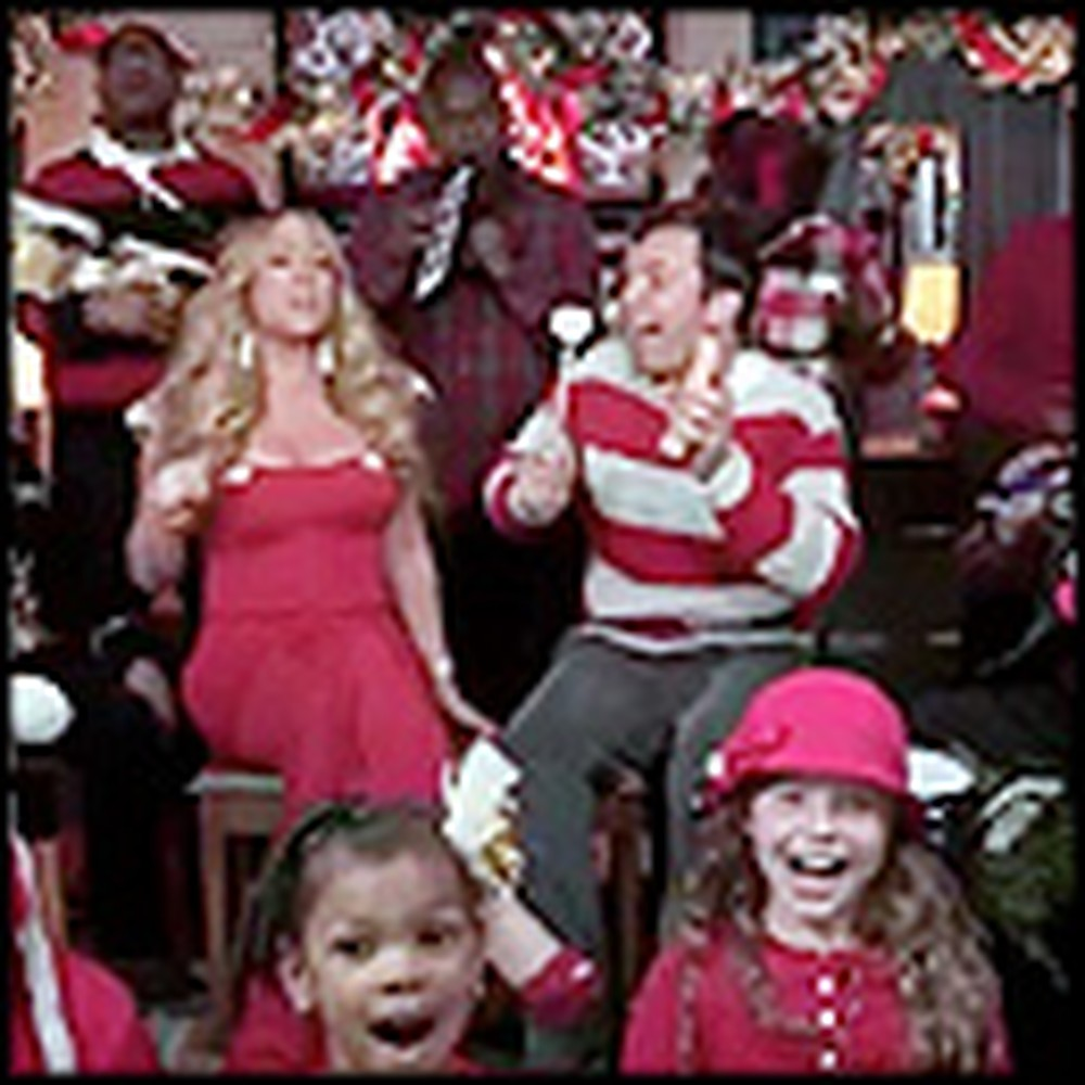 Celebrities and School Children Sing All I Want for Christmas is You