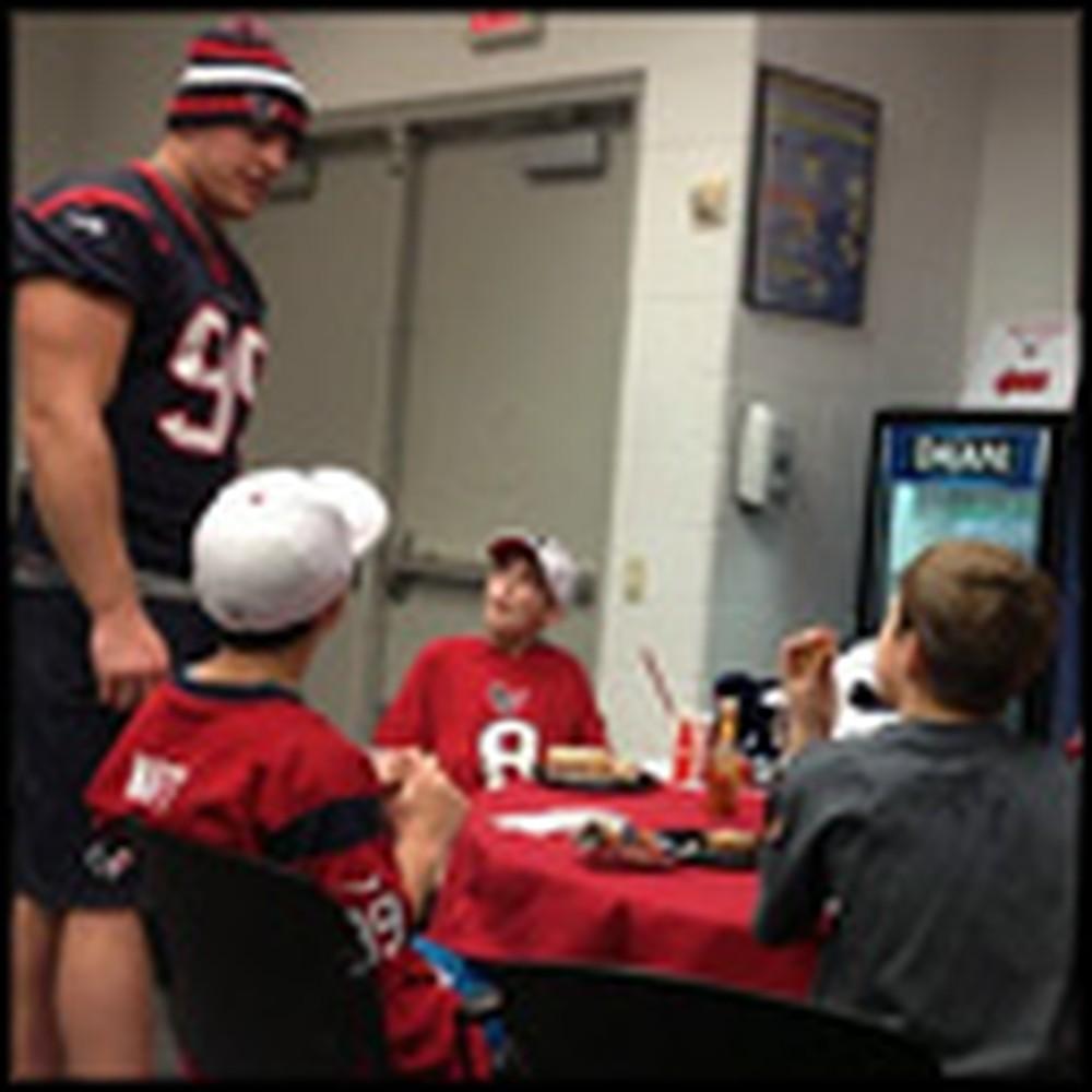 NFL Angel JJ Watt Gives Sandy Hook Children a Special Gift