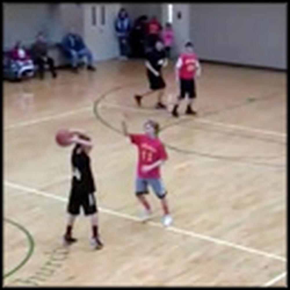 Player From Church Basketball Team Makes an Unbelievable Buzzer Shot