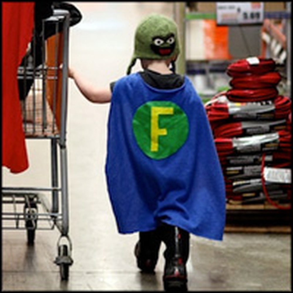 Dad Supports His Little Boy by Dressing Like a Superhero