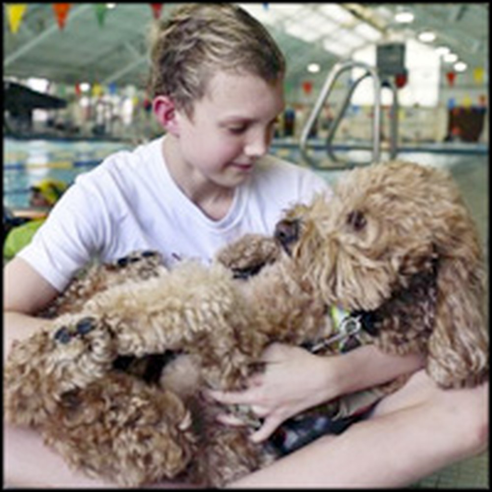 Adorable Dog and Teen Swimmer Have a Life Saving Friendship