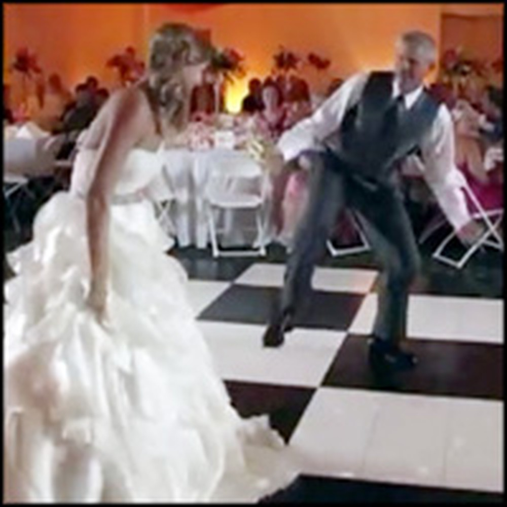 Funny Father and Daughter Surprise Their Guests with a Dance