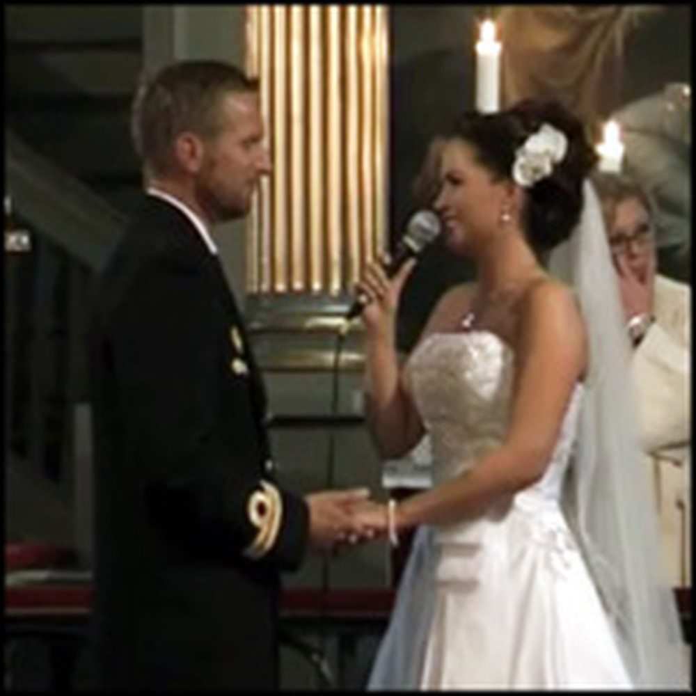 Bride Surprises her Groom with a Performance of From This Moment
