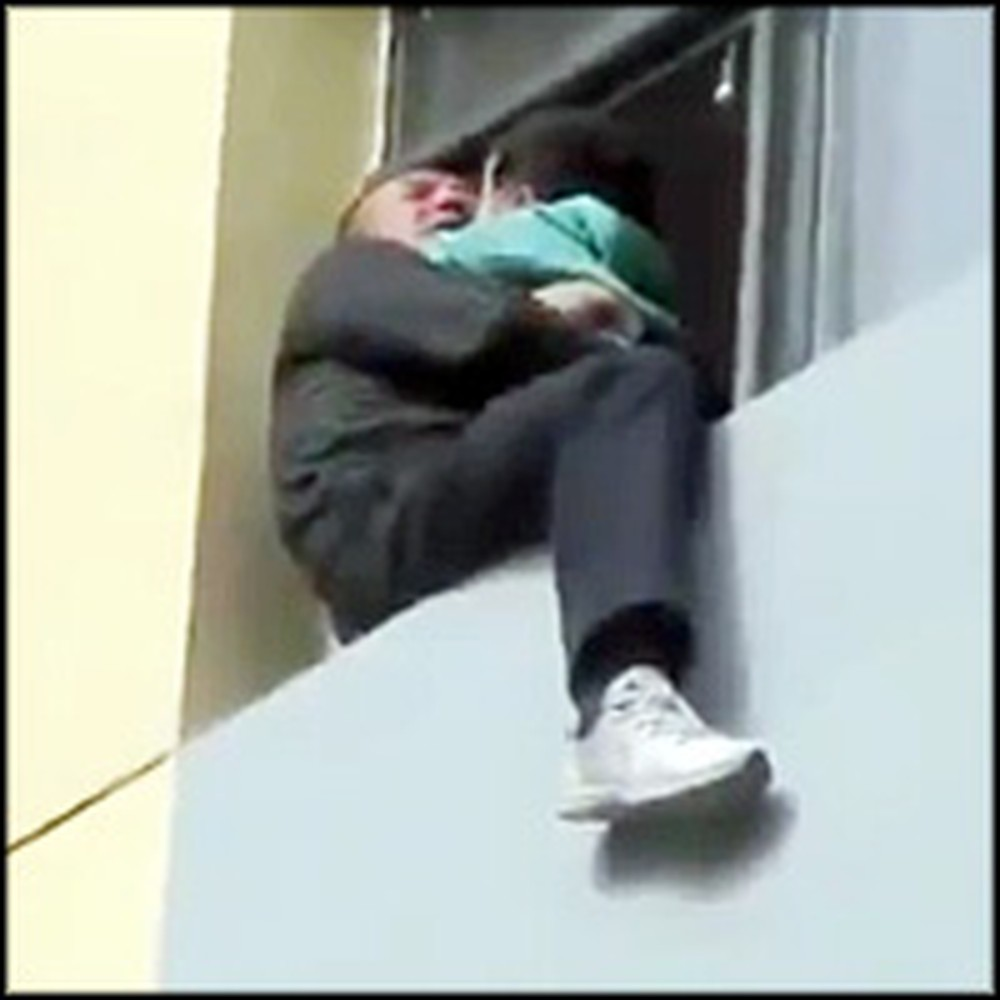 Brave Fireman Does the Unbelievable to Save a Suicidal Man and his Baby