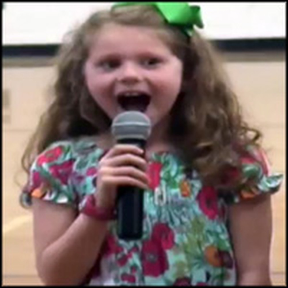 Little Girl has the Cutest Reaction When Daddy Surprises Her While She Sings