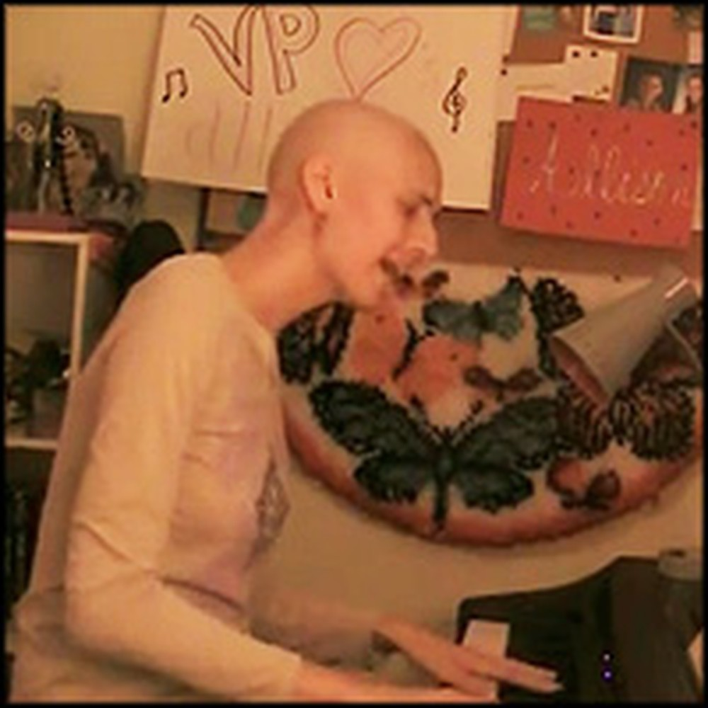 Beautiful Girl Fighting Leukemia Performs a Touching Adele Song