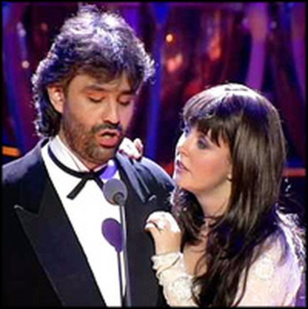 Sarah Brightman and Andrea Bocelli Sing Heavenly Opera Duet