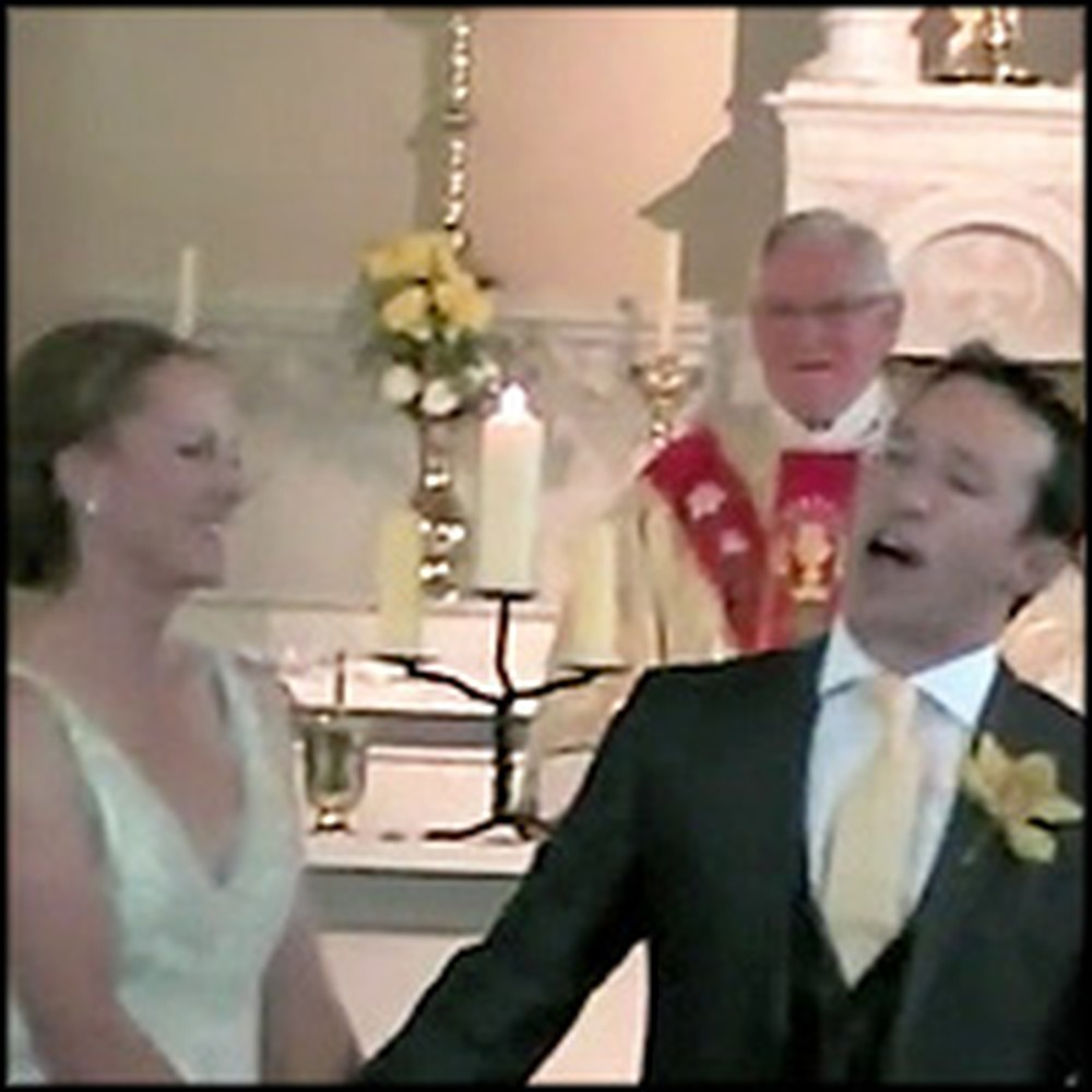Groom Gives His Bride a Delightful Surprise at Their Wedding