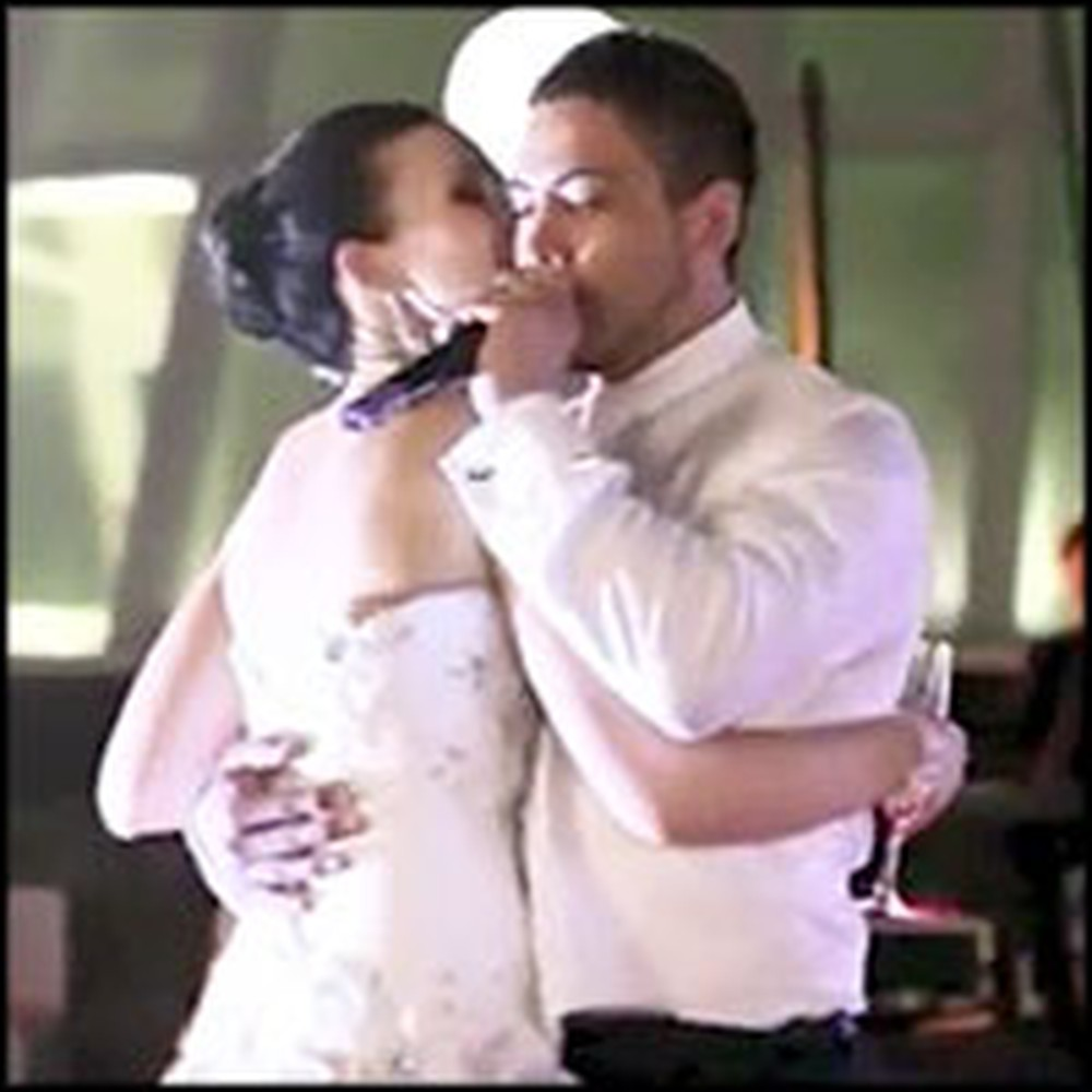 Groom Serenades His Lucky Bride During First Dance Singing All I Want is You