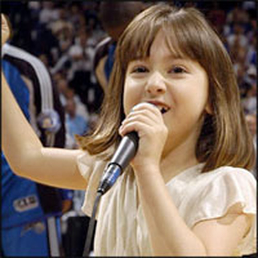 Darling 7 Year-Old Girl with Autism Sings the National Anthem Like an Angel