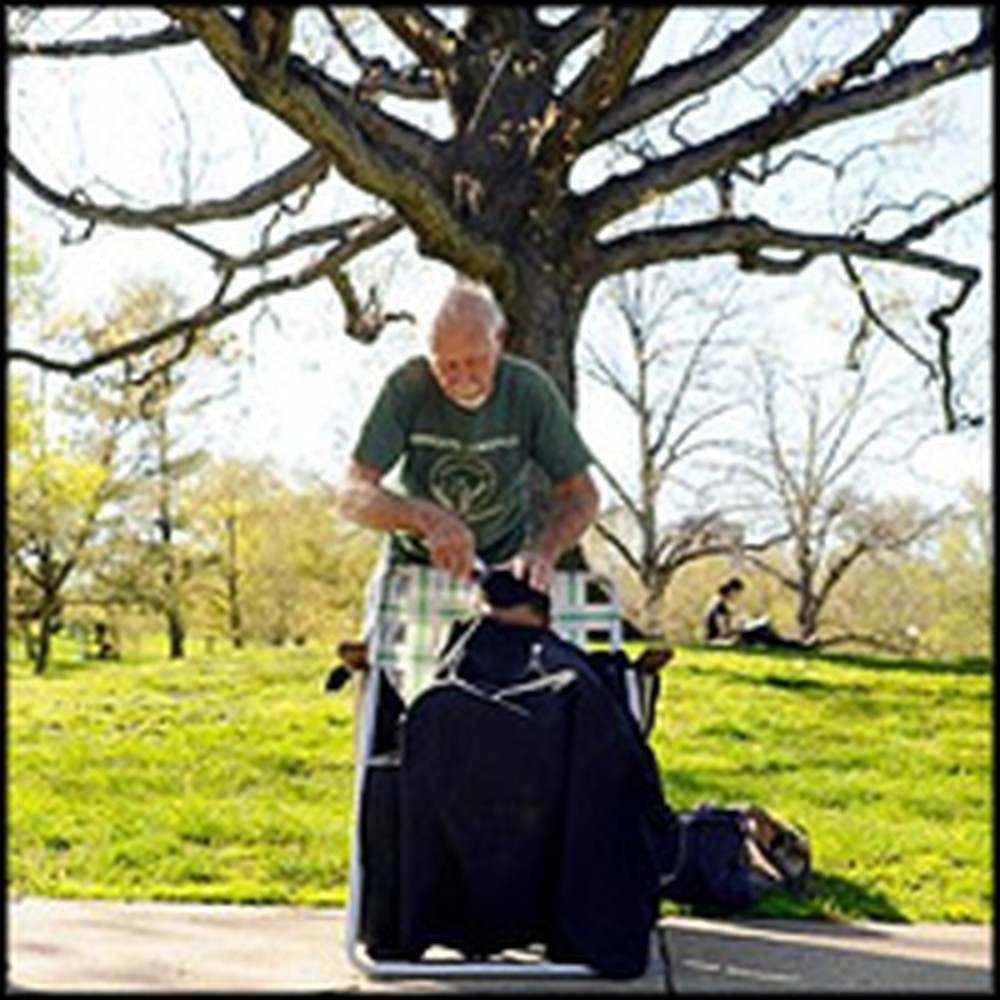 After Hearing a Sermon in Church a Barber Helps the Homeless in the Most Unusual Way!