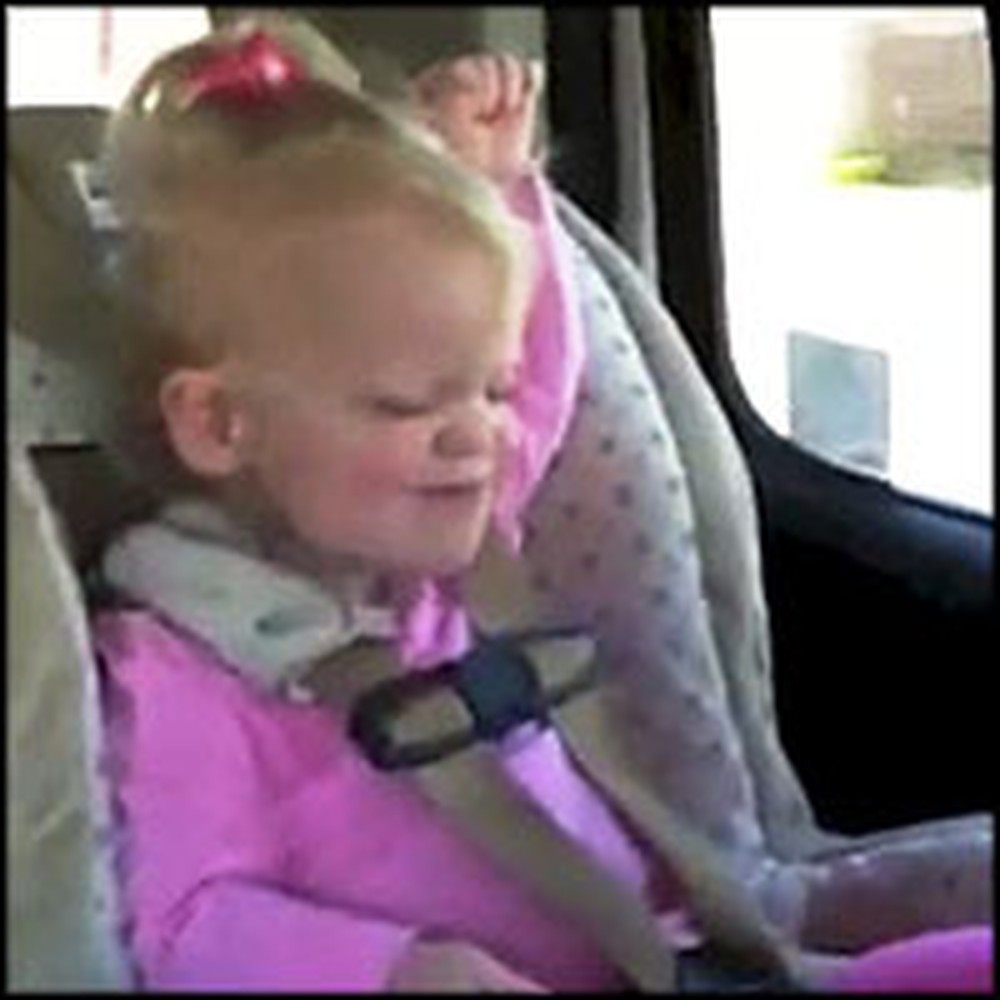 Adorable Toddler Rocks Out to Her Favorite Song