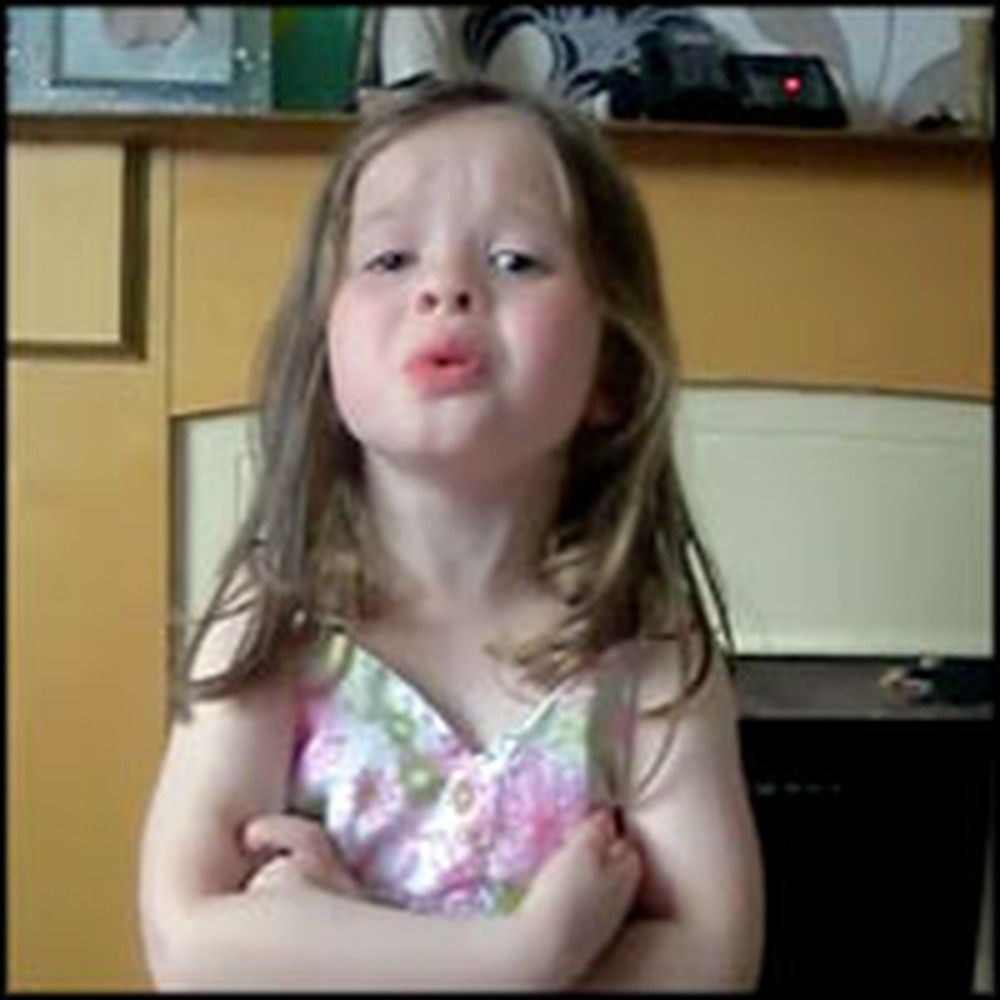 Cute 4 Year-Old Passionately Sings Adele