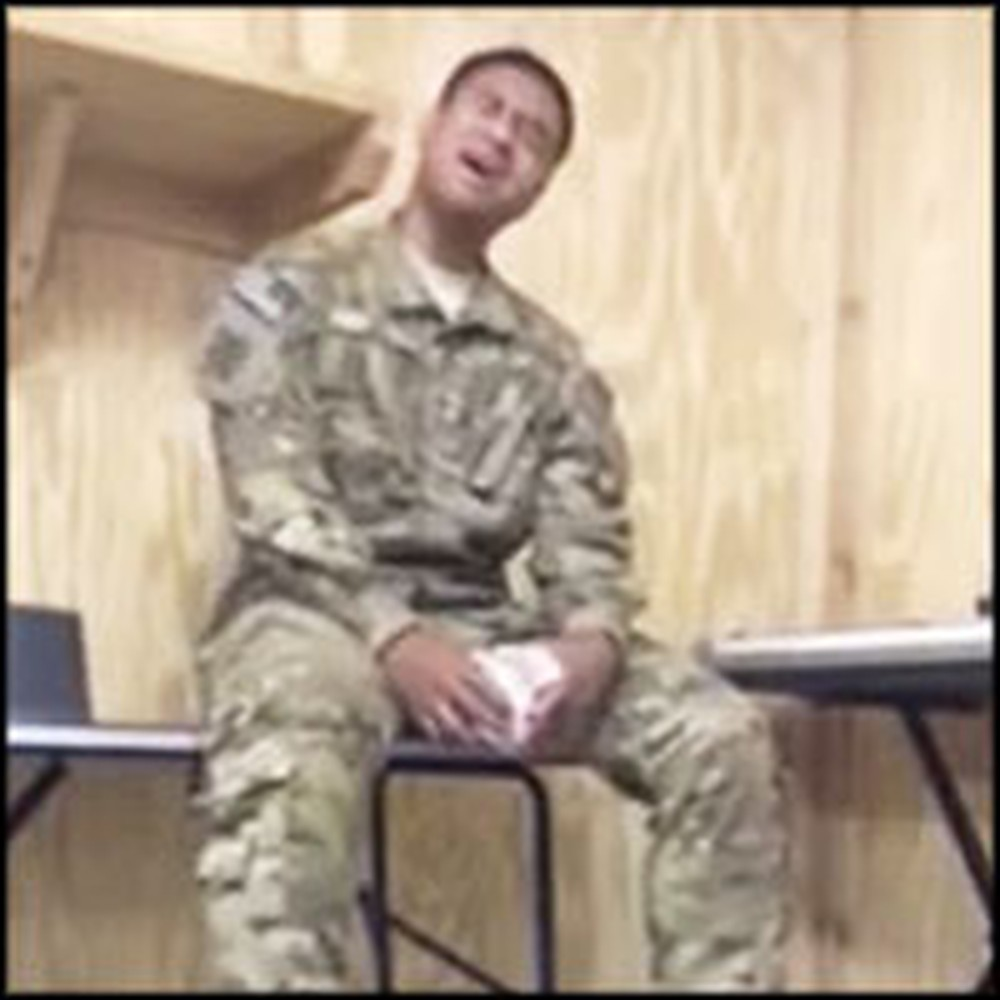 Deployed Soldier in Afghanistan Sings a Breathtaking Song on Break