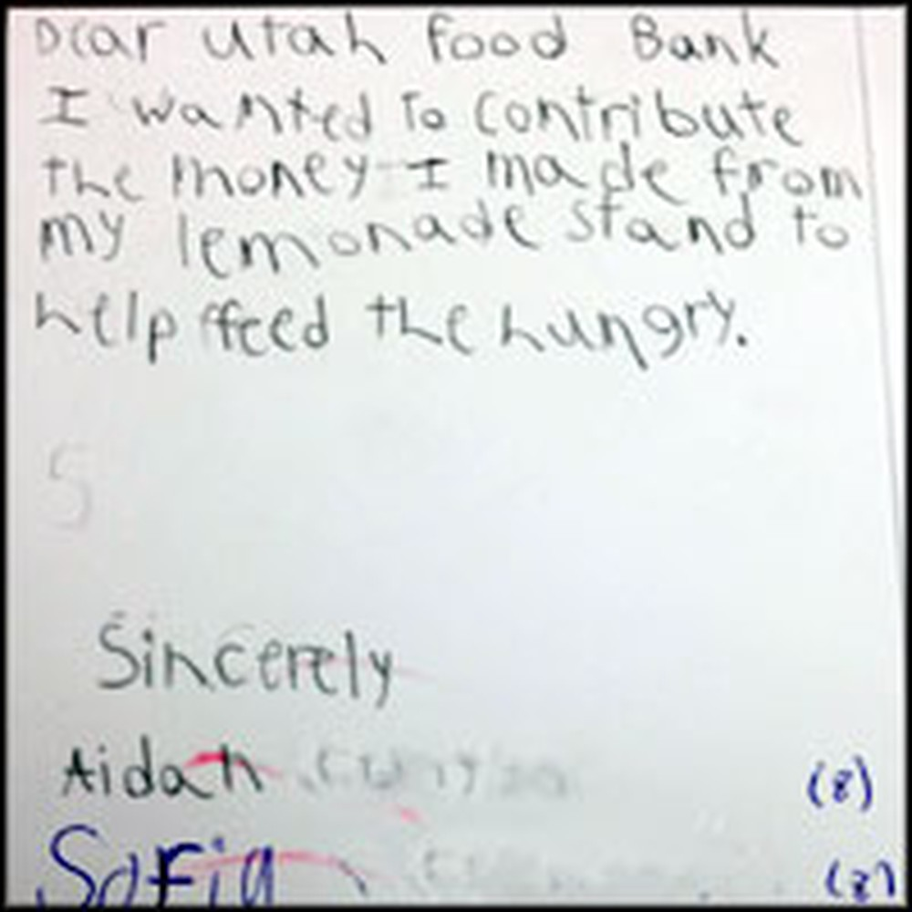 Food Bank Receives Heartwarming Donation from Children