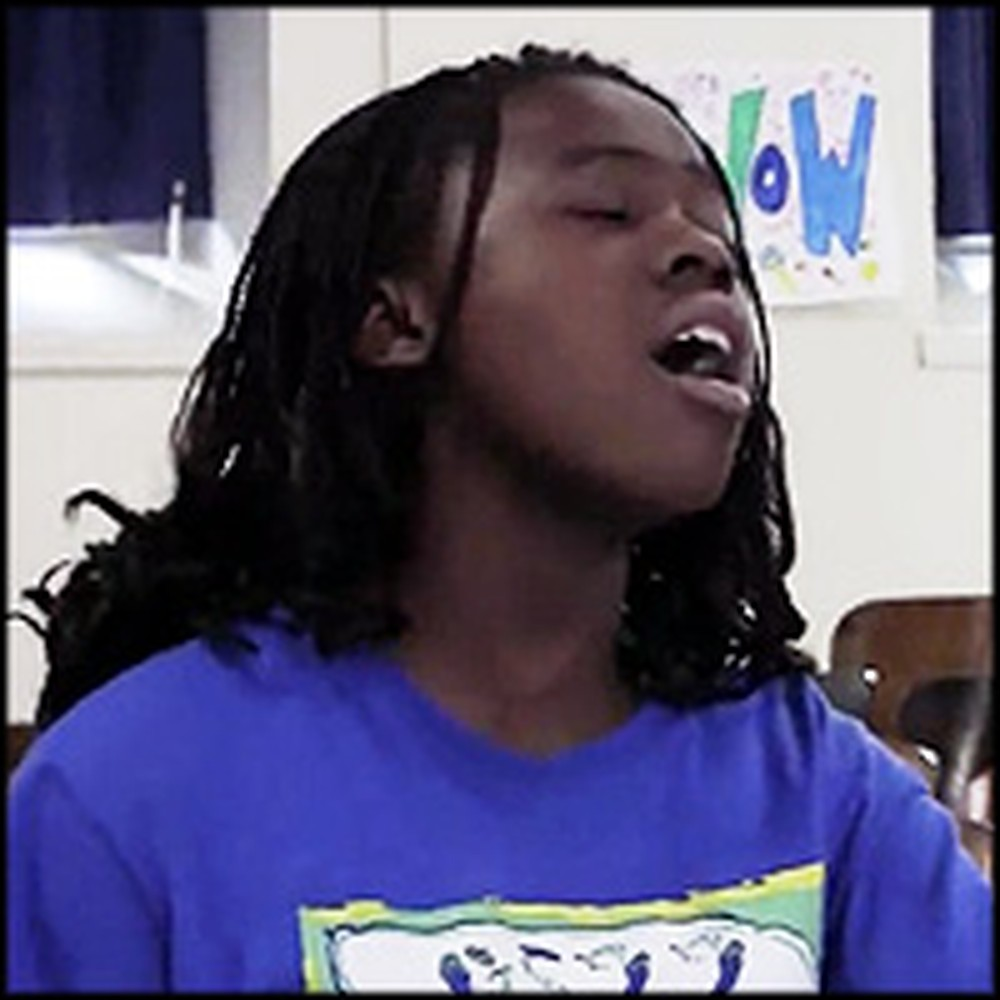 Incredible Child Singer Praises Jesus at School