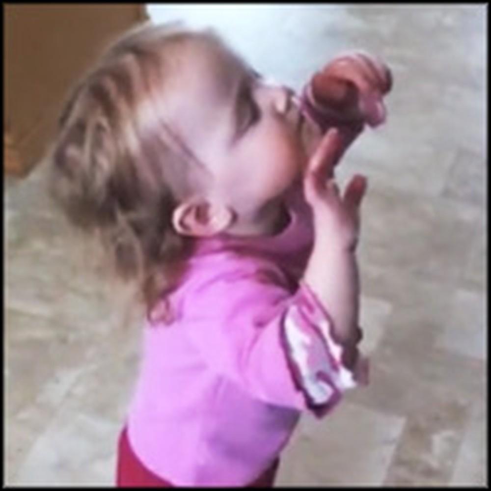 Sweet Baby Praises Jesus During a Chris Tomlin Song