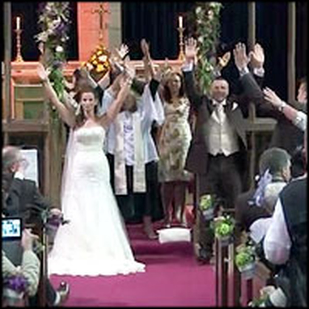 Newlywed Couple Celebrates Their Marriage with a Flash Mob