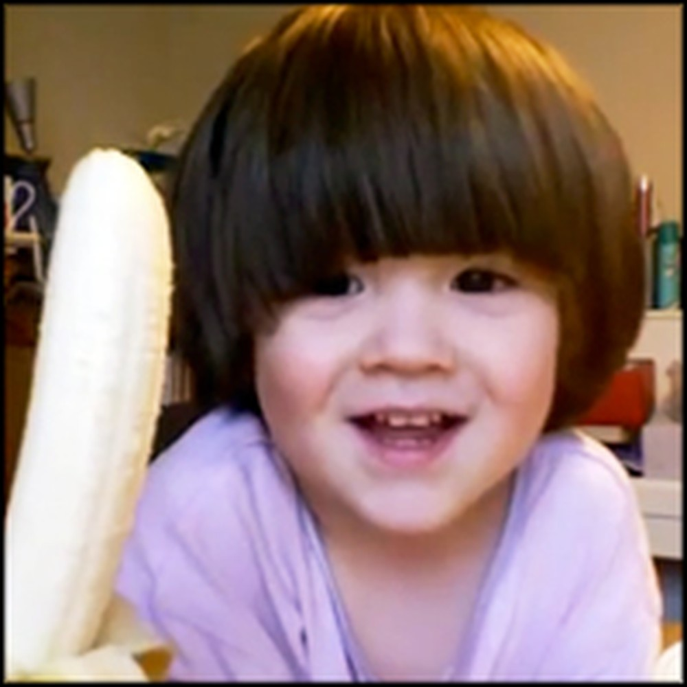 Sweetest Little Girl Has the Cutest Way of Saying Banana
